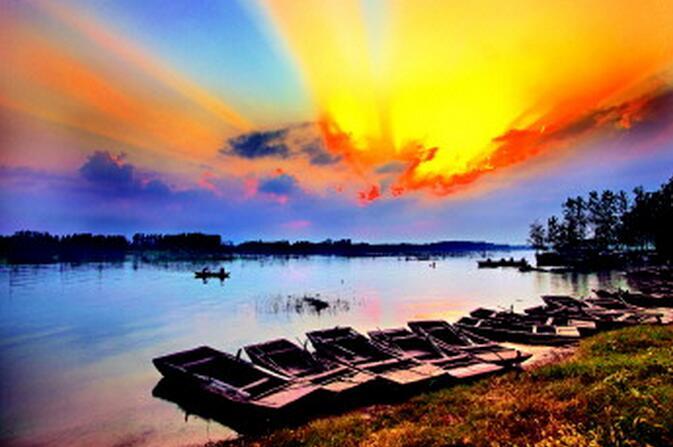 中秋节微山湖旅游线路,微山湖红荷湿地旅游路线