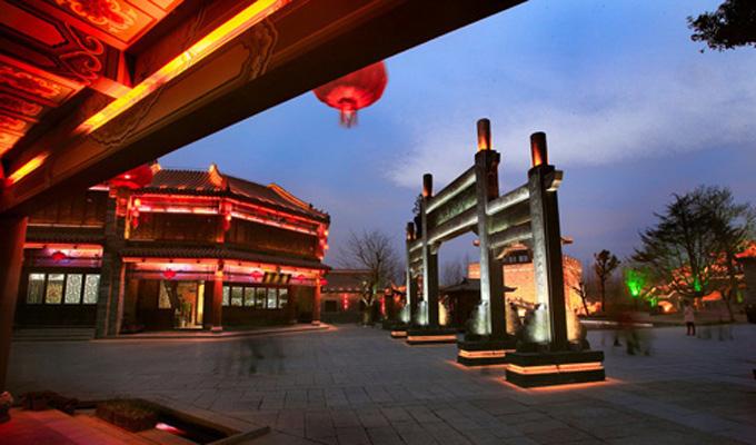 微山湖红荷湿地公园周边景区之台儿庄运河古城