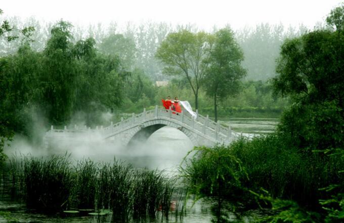 滕州微山湖红荷湿地公园