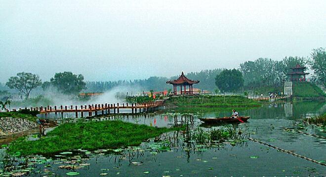 滕州微山湖湿地公园景点介绍,景点大全